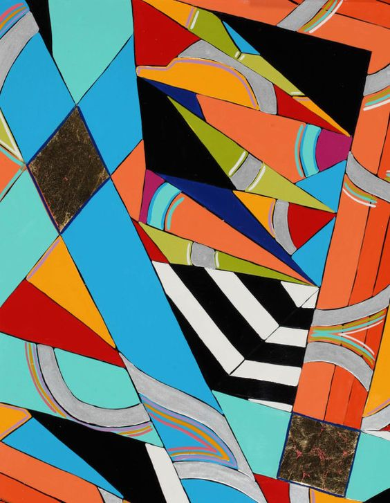 Geometric Painting Maine Painting Abstract by MicheleACaron