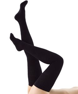 I love black cotton thigh-high socks! €18 #fashion #clothing #sock