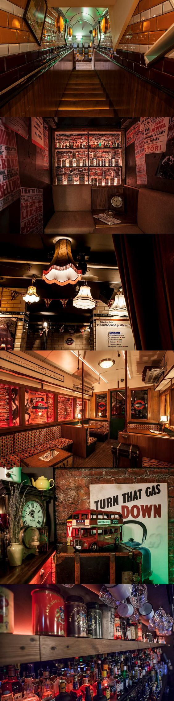 There's a new vintage tube-themed bar in Soho: http://now-here-this.timeout.com/2015/03/04/ten-reasons-to-visit-sohos-new-underground-bar-cahoots/