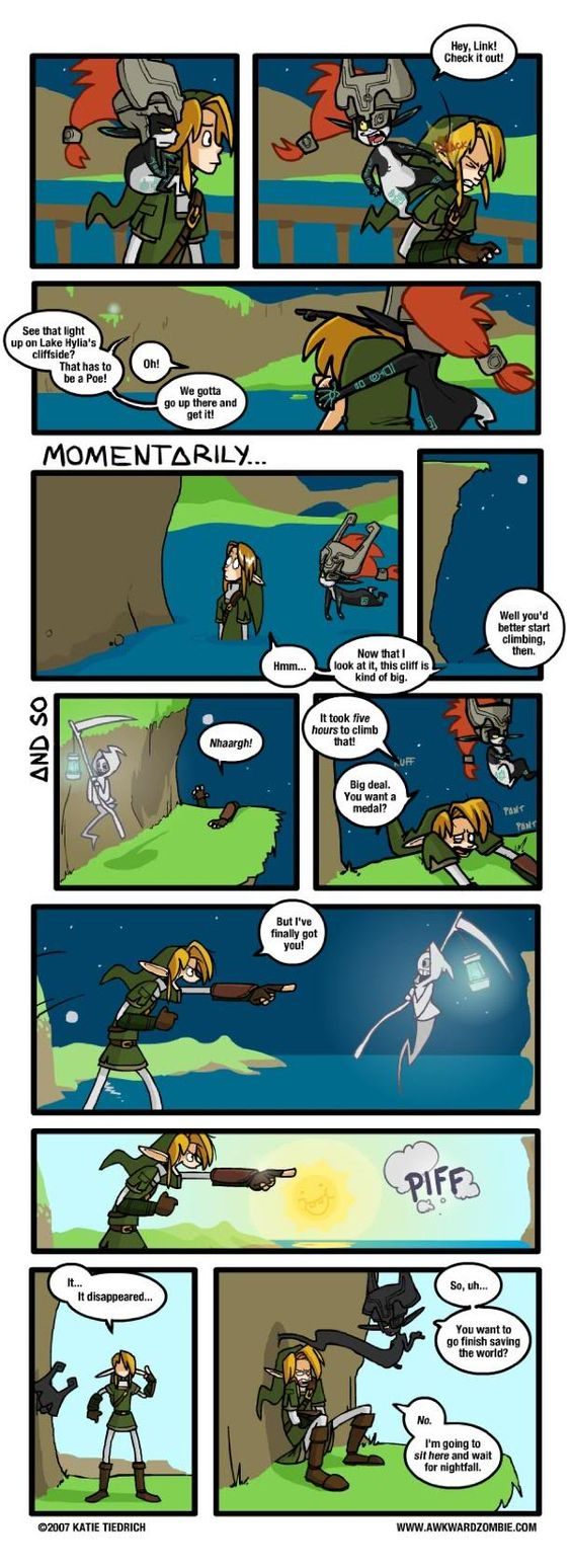 Been there... It's either that, or you accidentally fall off the cliff fighting the dumb thing...