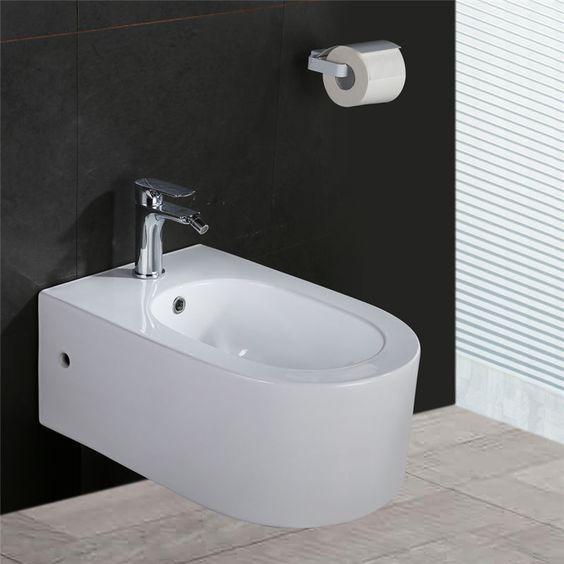 Toilette WC Wand-Hänge Keramik Tiefspüler Spülrand Soft Close - küche waschbecken keramik