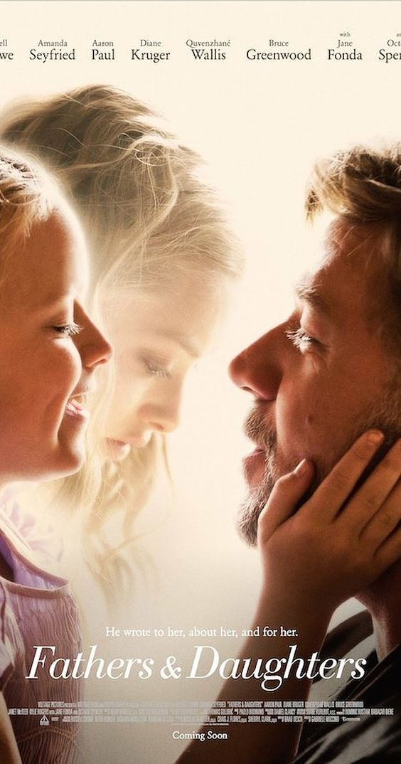 Directed by Gabriele Muccino.  With Russell Crowe, Amanda Seyfried, Aaron Paul, Diane Kruger. A Pulitzer-winning writer grapples with being a widower and father after a mental breakdown, while, 27 years later, his grown daughter struggles to forge connections of her own.