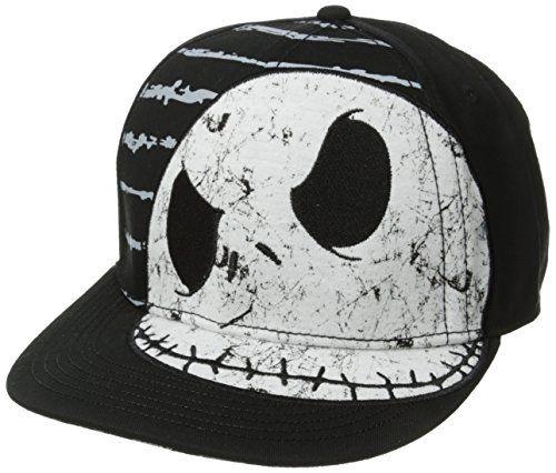 Nightmare Before Christmas Men's Jack Jersey Applique Flat Brim Hat, Dark Black, One Size Nightmare Before Christmas http://www.amazon.com/dp/B00KTJO1D4/ref=cm_sw_r_pi_dp_Tfjaub0H601GJ