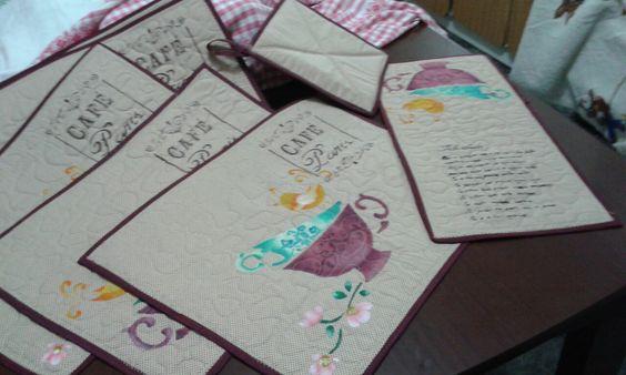Pintura em tecido com stencil