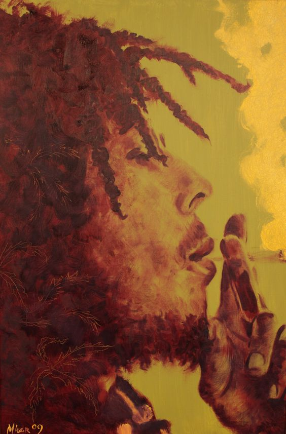 Bob marley painting inlight art pinterest bobs for Bob marley mural