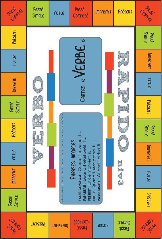 verbo-rapido - jeu de conjugaison pour réviser 3 ou 5 temps majeurs (2 niveaux)