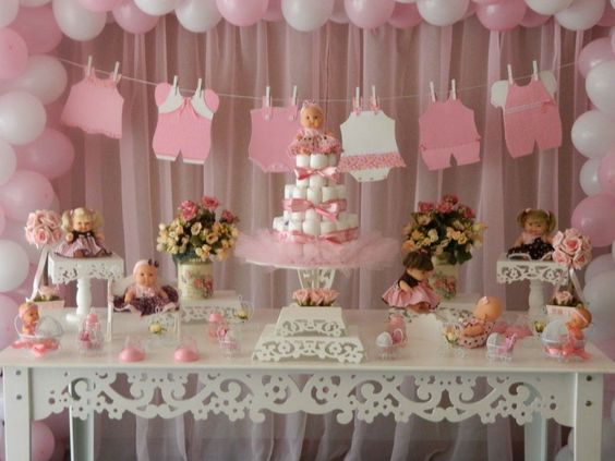 Baby shower muñecas