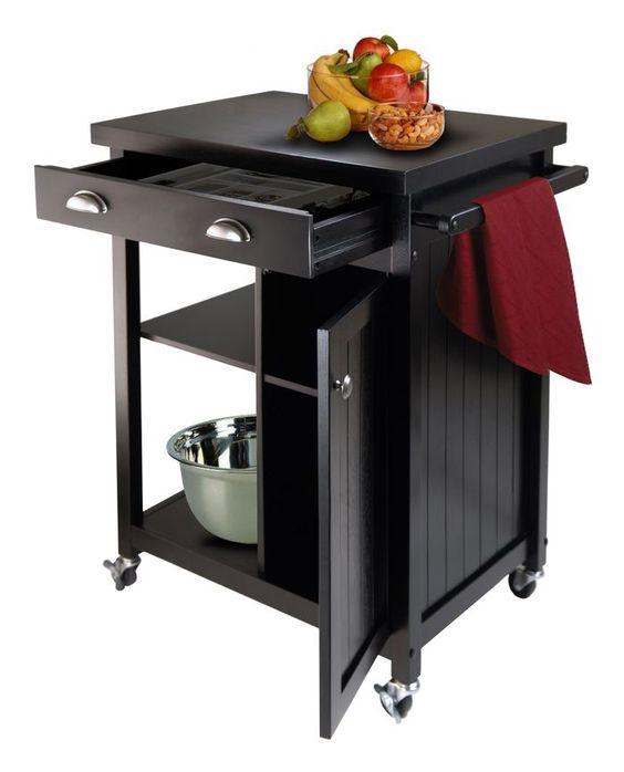 Timber Kitchen Cart