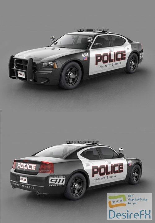 Dodge Charger Police 3d Model Dodge Charger 3d Model Police