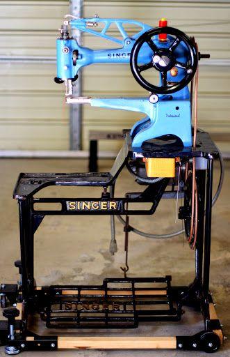 vintage singer leather sewing machine