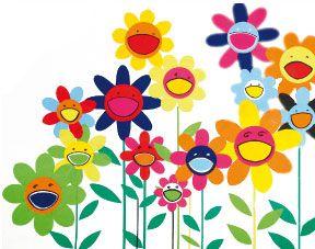 des fleurs pour maman, à la manière de takashi murakami : kawaï