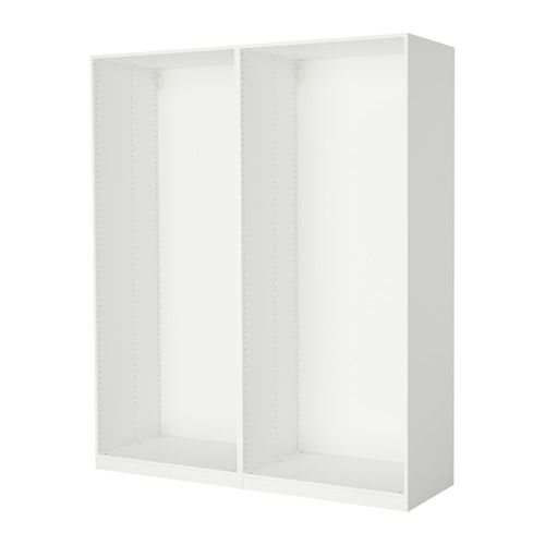 Pax 2 caissons armoire blanc the floor cabinets and the studio - Caisson penderie ikea ...
