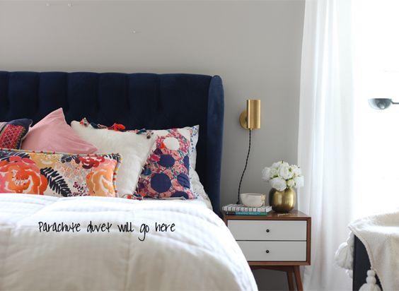 I make emily henderson cry or do i white duvet martha for Mid century modern master bedroom