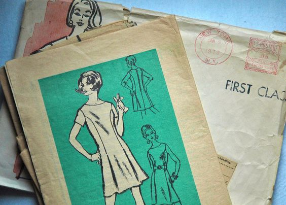 1970's Mail Order Dress Pattern  Bust 35 by backroomfinds on Etsy, $6.95