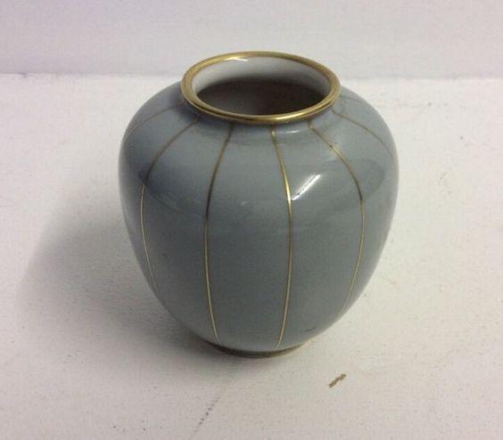 Rosenthal Vase Blumenvase Grau Klein Porzellan