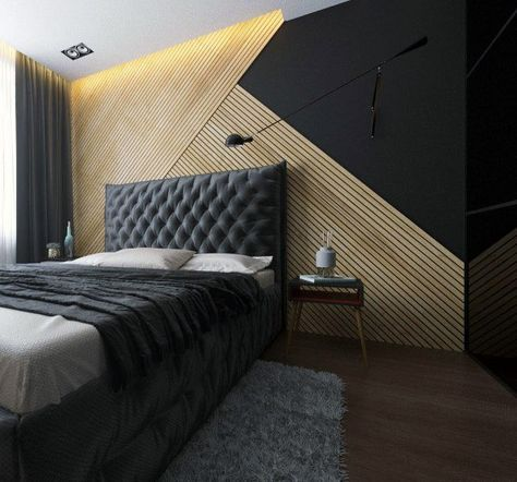 Wooden Wall Designs 30 Striking Bedrooms That Use The Wood Finish Artfully Luxurious Bedrooms Modern Bedroom Wooden Bedroom