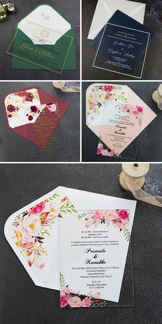 Great Ideas of Acrylic Applications in a Outdoor Summer Wedding