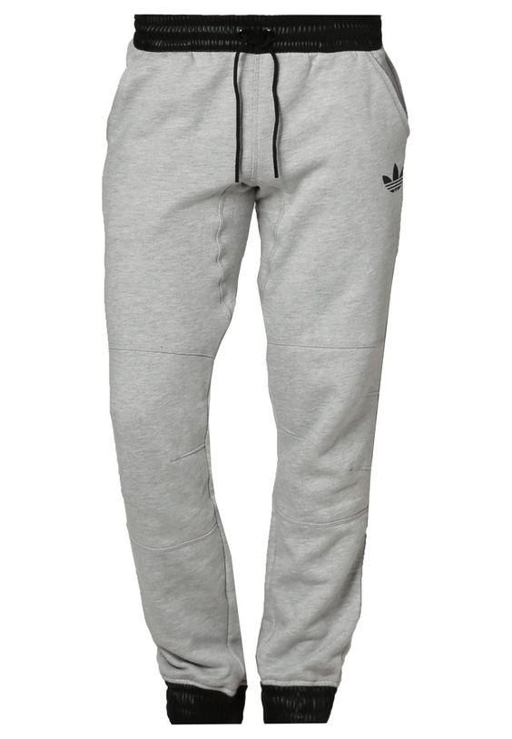 adidas Originals Jogginghose - medium heather grey/ black - Zalando.de