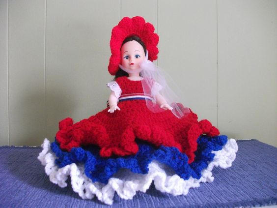 Patriotic Red White and Blue Air Freshener Doll by PeggysPatch on Etsy