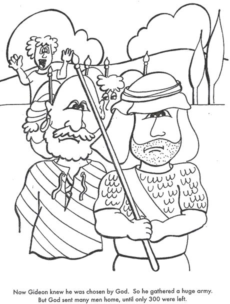 gideon printable coloring pages - photo#33