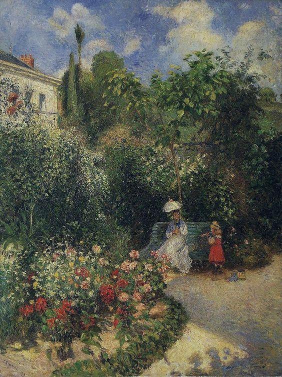 The Garden at Pontoise, 1877. Camille Pissarro