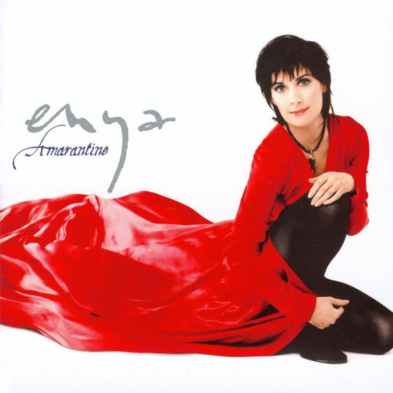 Amarantine Album Cover, Enya likes long flowing gowns, but they keep getting stuck in her castle doors when they slam shut on unwanted guests.
