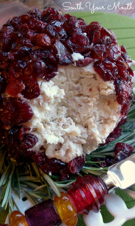 Christmas Cranberry Cheese Ball South Your Mouth