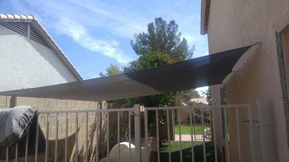 We Are Able To Design And Install Shade Sails For Dog Run In Arizona Here We Discuss A Recent Shade Sail Dog Run Instal Backyard Shade Shade For Dogs Dog Yard