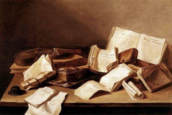 Jan Davidsz de Heem, Books. 1628, Mauritshuis, Den Haag, Nederland.