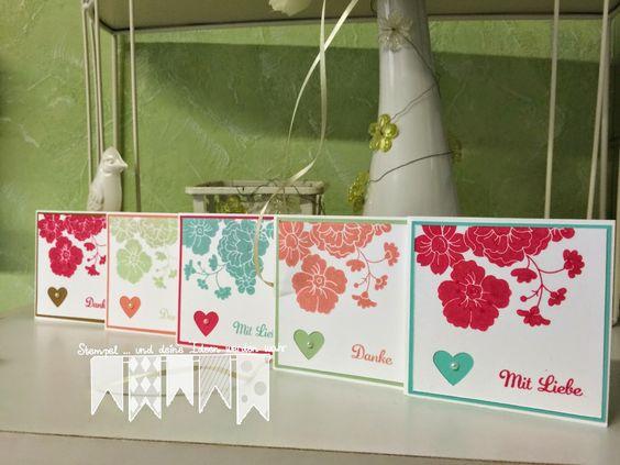 Blumen und Herzen ~ STEMPEL...und deine Ideen werden wahr...
