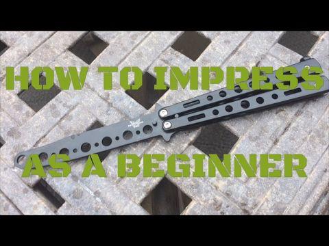 Easiest Impressive Butterfly Knife Tricks Youtube