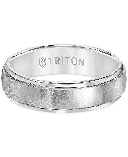Triton Men S Titanium Ring Comfort Fit Wedding Band 6mm Reviews Rings Jewelry Watches Titanium Rings For Men Comfort Fit Wedding Band Mens Titanium