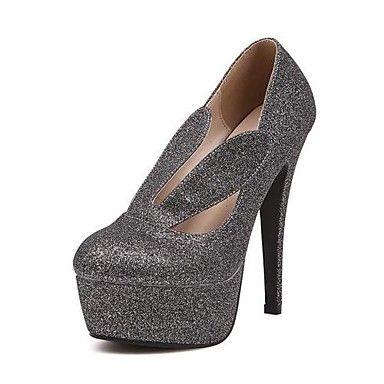 "Sparkling Glitter Women's ""Stiletto Heel  Round Toe Pumps/Heels with Paillette Shoes(More Colors) – USD $ 34.99"