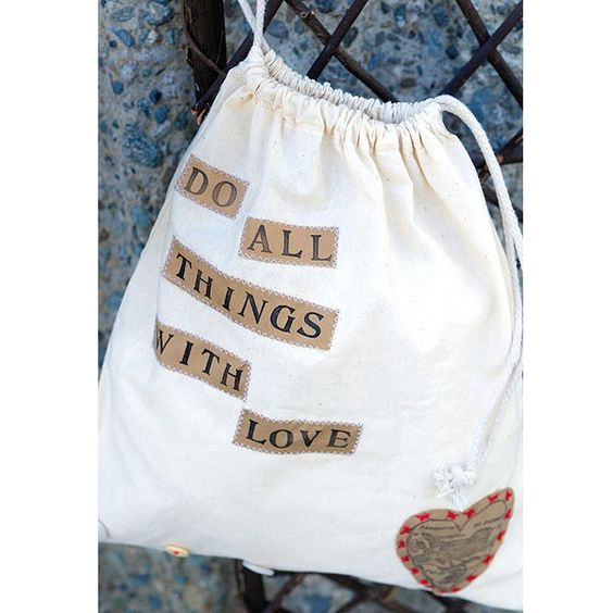 Do All Things with Love Bag Project by Sarah Meehan