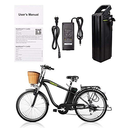 Nakto Spark 26 City Electric Bicycle Ebike With Removable Large Capacity 36v 10ah Lithium Battery 250w Electric Bike For Men With Battery Charger Black Electric Bicycle Electric Bike Bike