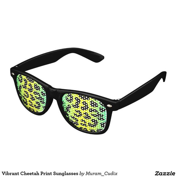 Vibrant Cheetah Print Sunglasses