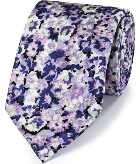 White And Lavender Floral Skinny Ties Mens Floral Tie Classic Ties Purple Floral