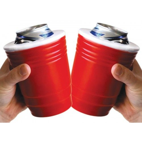 For the dad who has everything... Beer Koozies  Red Solo Cup Drink Cooler Set