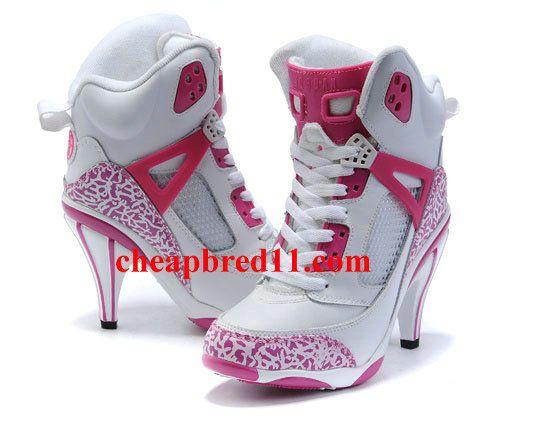 Womens Air Jordan 3.5 High Heels White Pink