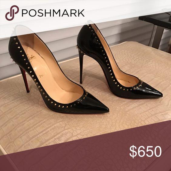 """Black Stud Heels - 3"""" - Worn very little. Black stud heels Christian Louboutin Shoes Heels"""