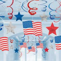 Usa Hanging Swirl Decoration | House Parti Wholesale