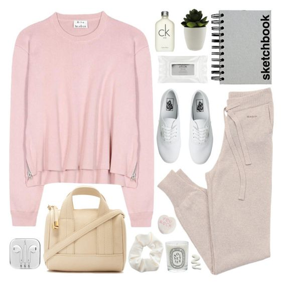 """Untitled #2322"" by liliblue ❤ liked on Polyvore featuring GANT, Vans, Stila, Acne Studios, Paperchase, Calvin Klein, Diptyque, Topshop, Forever 21 and women's clothing"