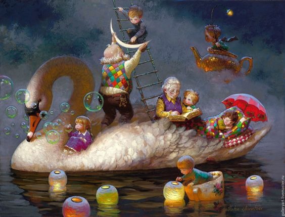 Floating on a dream art Victor Nizovtsev: