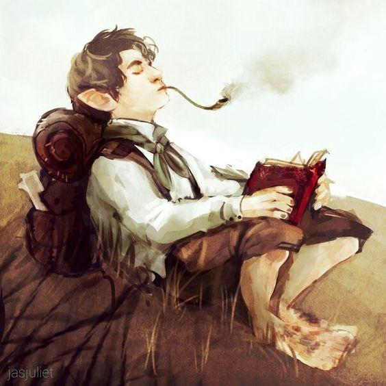 Bonita imagen de un Hobbit...