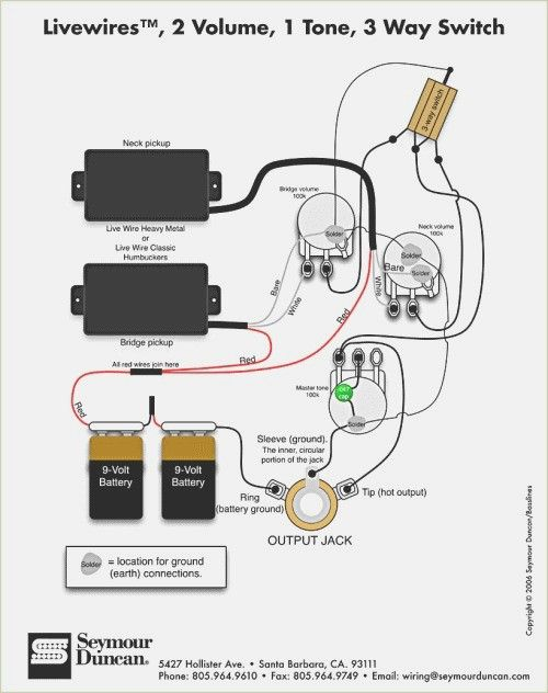 Emg hz pickup wiring diagram | Wire, Live wire, DiagramPinterest