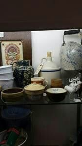 Nice selection of stoneware from Foxglove Antiques