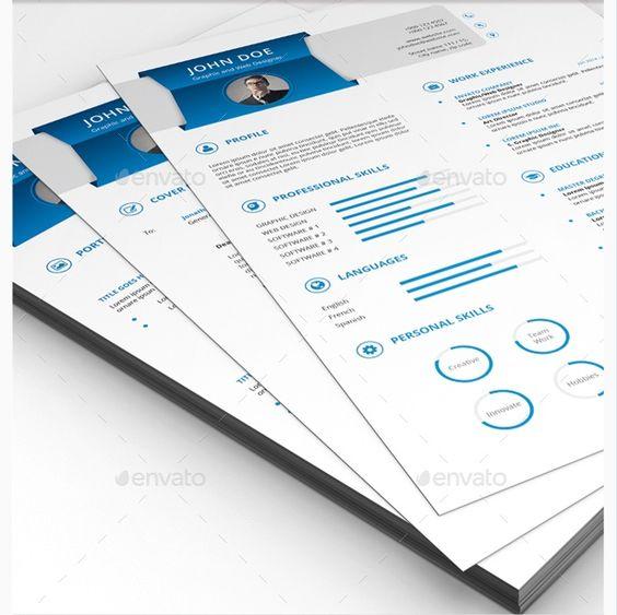 blue clean resume infographic resume cv maker creator   Creative ...
