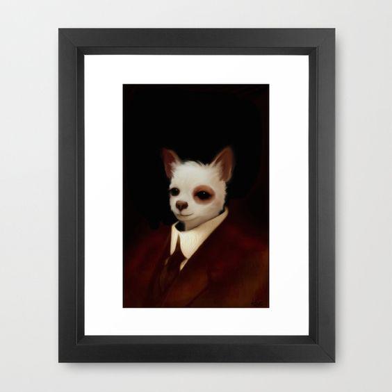 Bruno Framed Art Print by Dale Keys