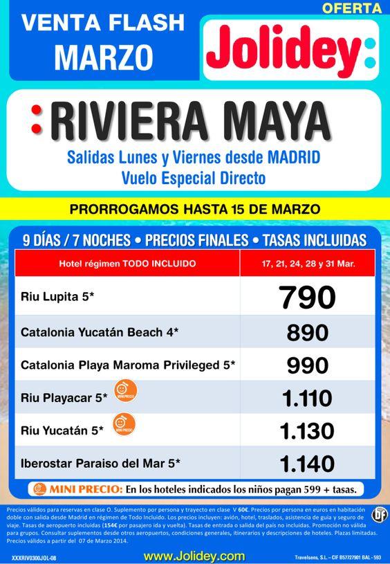 Venta Flash Riviera Maya desde 790 euros. Salidas 17,21,24,28 y 31 desde Mad ultimo minuto - http://zocotours.com/venta-flash-riviera-maya-desde-790-euros-salidas-17212428-y-31-desde-mad-ultimo-minuto/