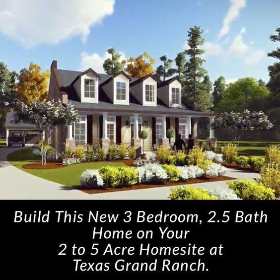 Houses Farm Houses Acre Homesites Texas Grand 900 Click Forward Build